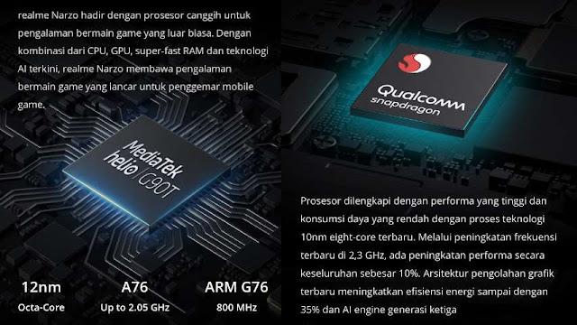 Realme Narzo vs Realme 5 Pro Chipset RAM