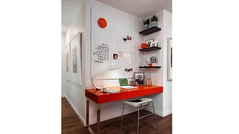 home office vermelho