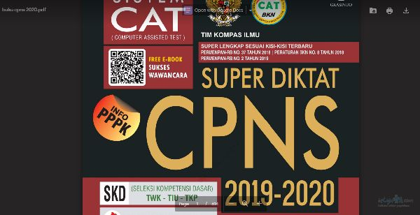 Baru, Download Modul Super Diktat CPNS 2019-2020 Gratis