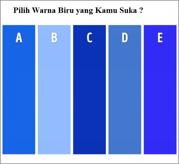 Pilih warna biru yang Anda suka.