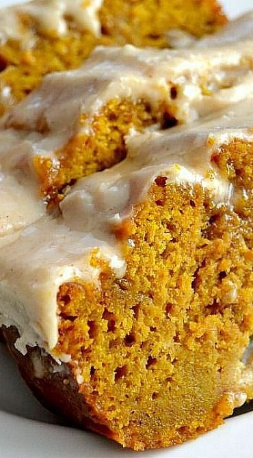 The BEST Pumpkin Bread With Brown Butter Maple Icing