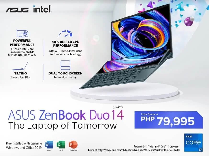 ASUS ZenBook Duo 14 Launches in PH; Price Starts at Only Php79,995