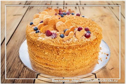 Очень вкусный медовый торт! Попробуйте испечь!