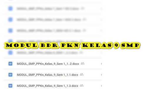 Modul BDR PKN Kelas 9 SMP