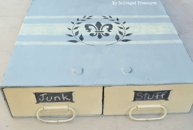 street faire finds vintage filing box