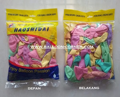 Balon Latex Macaron (HAOSHIDAI)