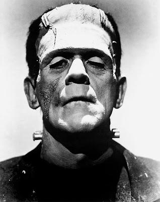 Boris Karloff as the Monster in Universal's Frankenstein.