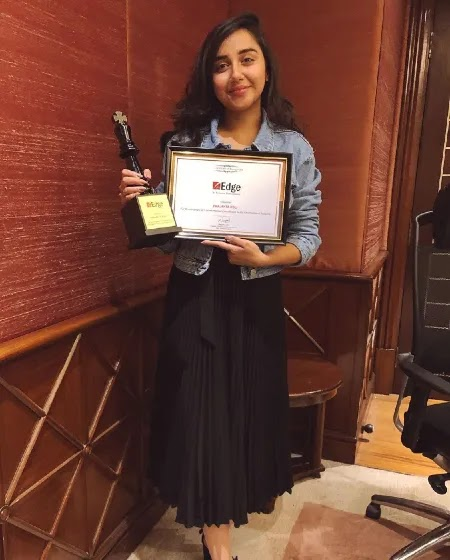 Prajakta Koli awarded by Hindustan Times for Game Changer of The Year