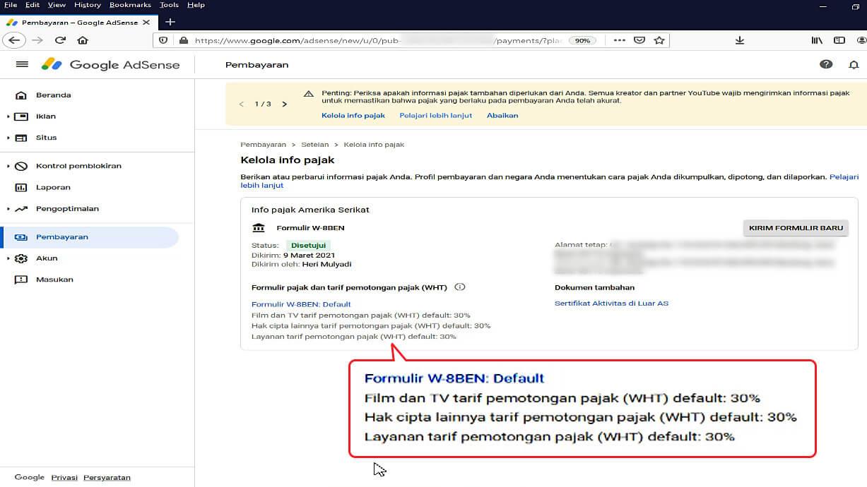 Mengirimkan Informasi Pajak ke Google 14