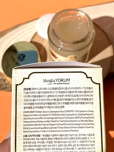 pax moly honey radiant glow cream bal özlü krem içerik