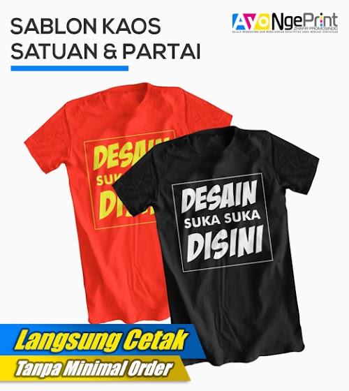 Tempat Sablon Kaos Satuan & Partai di Duren Sawit, Jakarta Timur