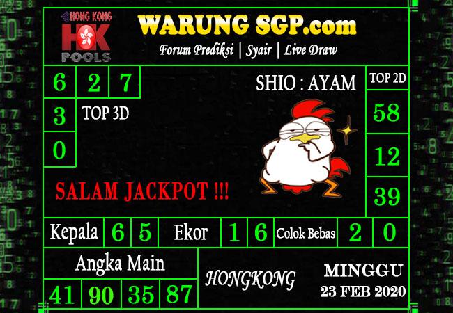 Prediksi Togel JP Hongkong 23 Februari 2020 - Prediksi Warung SGP