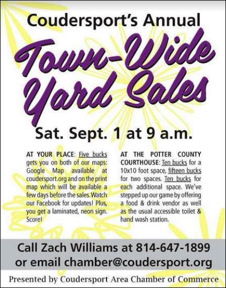 9-1 Coudersport Town Wide Yard Sales