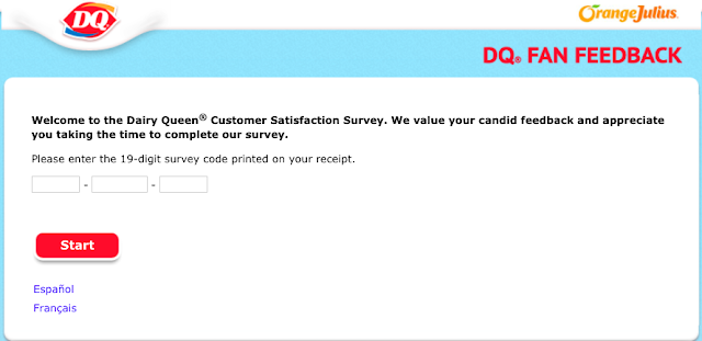 Dairy queen customer satisfaction survey homepage