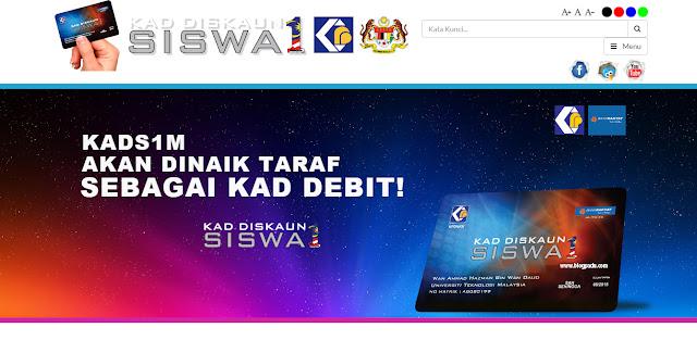 CARA MEMOHON KAD DISKAUN SISWA 1 MALAYSIA !