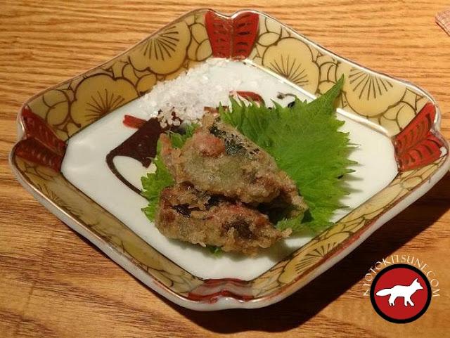 tempura d'huitre au restaurant Guilo Guilo à Kyoto
