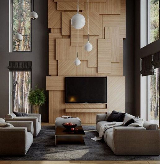 Modern And Magnificent Double Height Rooms Tv Wall