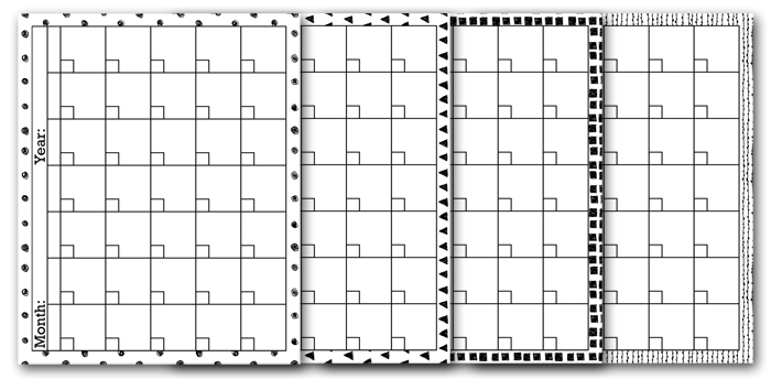 Free Printable Blank Calendar Pages