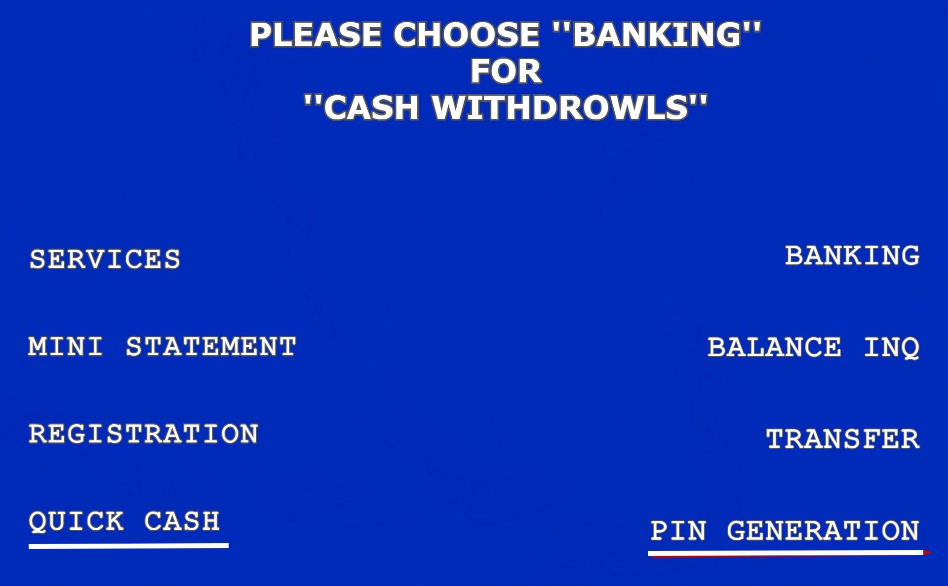 ATM Machine के माध्यम से पिन जनरेट कैसे करे