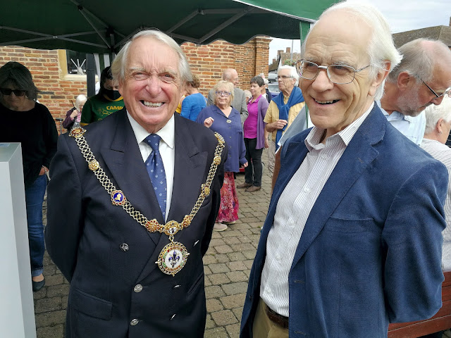 Godmanchester Mayor Councillor Clifford Thomas and Philip Saunders, Chairman of the Huntingdonshire Local History Society