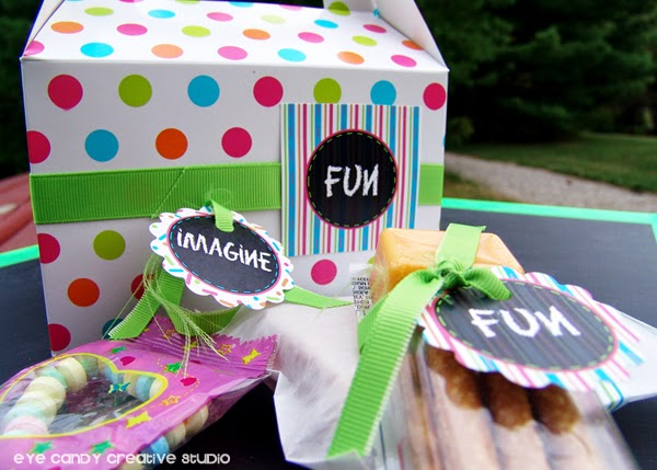 boxed lunch ideas, chalkboard decor, art party food ideas