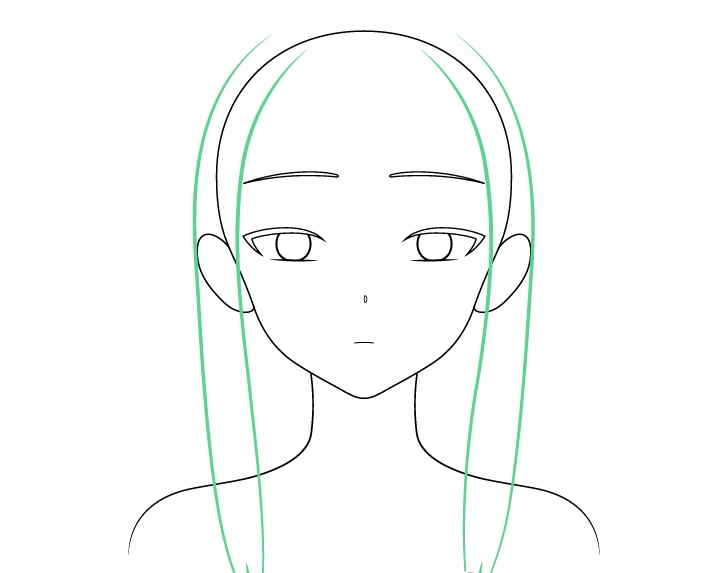 Gambar sisi rambut gadis anime cantik