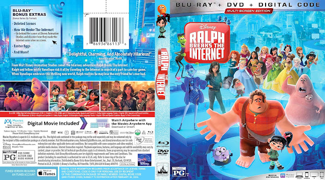 Ralph Breaks the Internet Bluray Cover