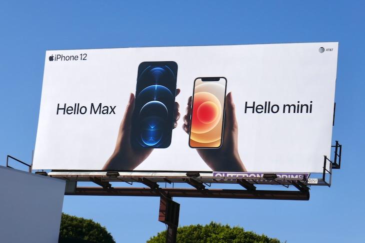 Hello Max Hello mini Apple iPhone 12 billboard