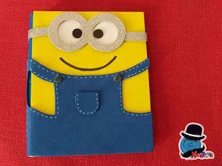 quaderno personalizzato con minions