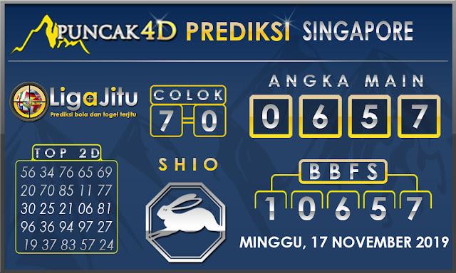 PREDIKSI TOGEL SINGAPORE PUNCAK4D 17 NOVEMBER 2019