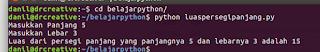 Program Menghitung Luas Persegi Panjang Python