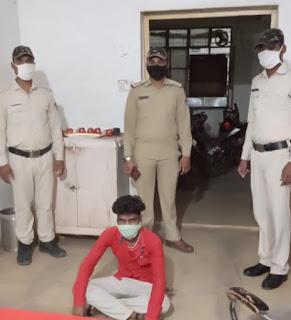 चाकू से प्राणघातक हमला करने वाला फरार आरोपी गिरफ्तार