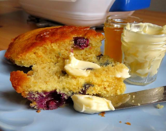 Blueberry & Vanilla Breakfast Corn Bread