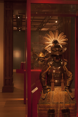 A photo of the Samurai exhibit at the Bellagio.