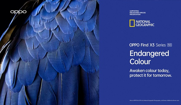 OPPO-National Geographic Society Endangered Colour campaign