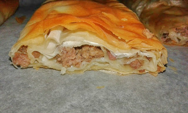 recipes for phyllo dough and minced meat