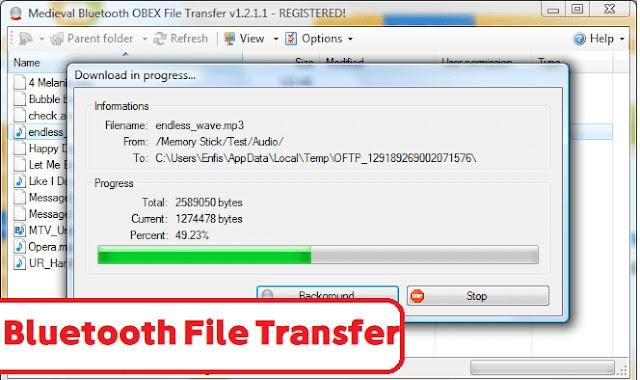 تحميل برنامج Bluetooth Sender آخر إصدار (3.6) لأنظمة تشغيل الويندوز