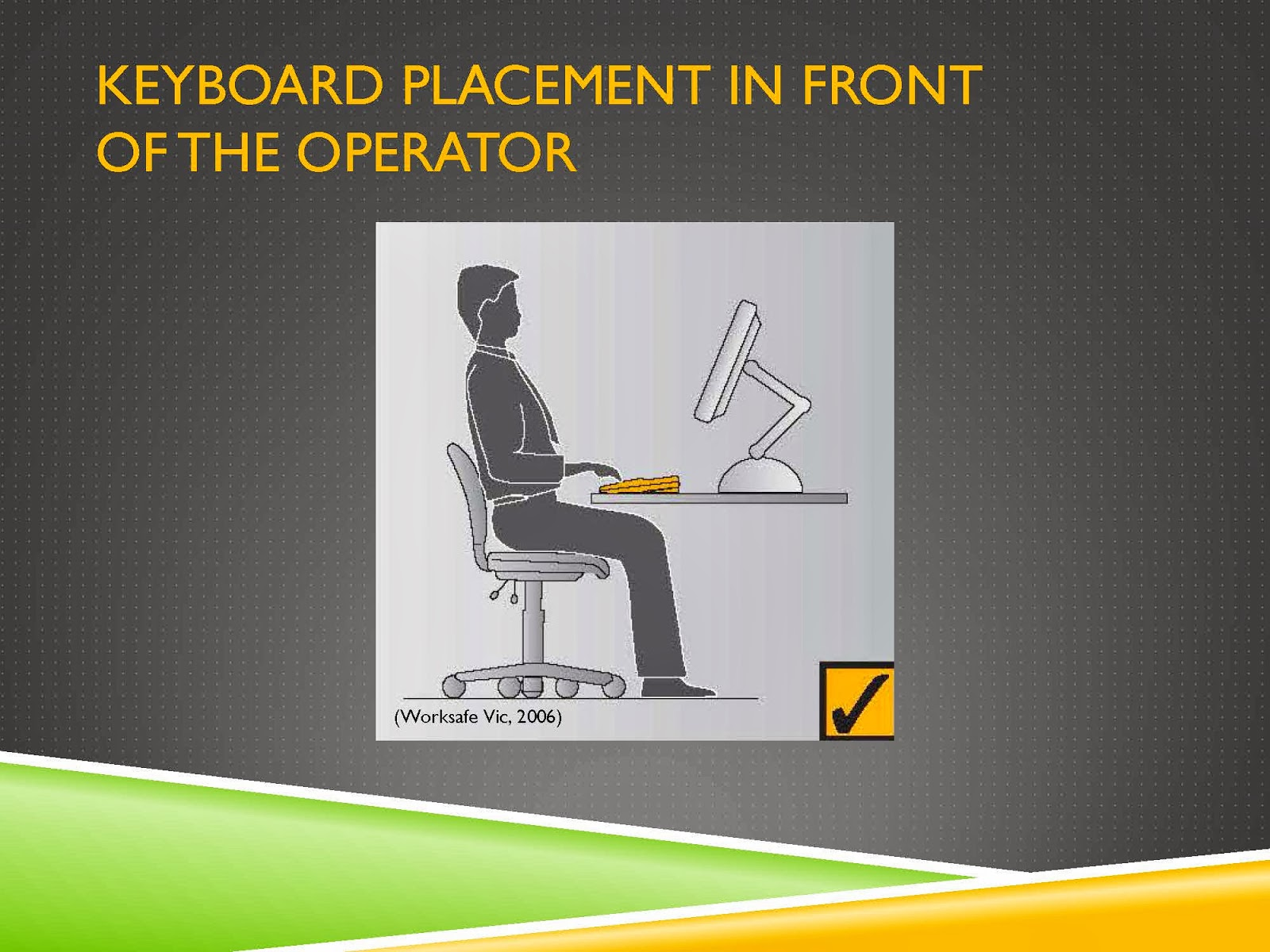 ERGONOMIC KEYBOARD PLACEMENT