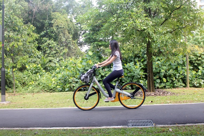 oBike made its official launch in April 2017 with a fleet of bikes available at almost every MRT station. White/silver with light orange features, these bicycles are the most widely accessible of the three, and are station-less, which allows you to get a bicycle anywhere.