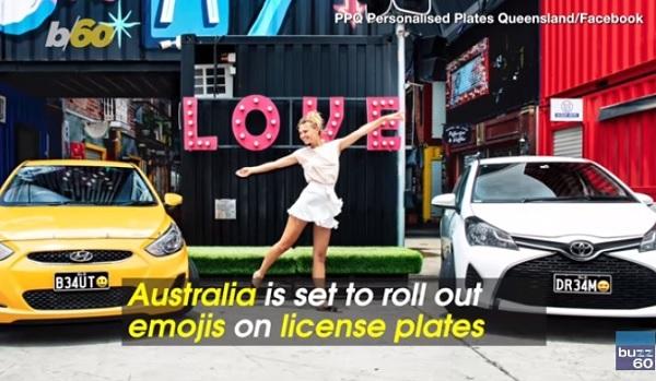 Patente con emojis Australia