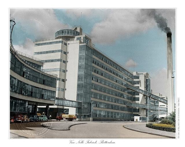 Ingekleurde foto Van Nellefabriek, Rotterdam