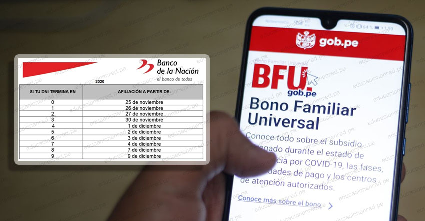 WWW.BFU.GOB.PE » Ingresa tu DNI para afiliarte a la Banca Celular si eres beneficiario del Bono Familiar Universal de S/ 760 [CRONOGRAMA]