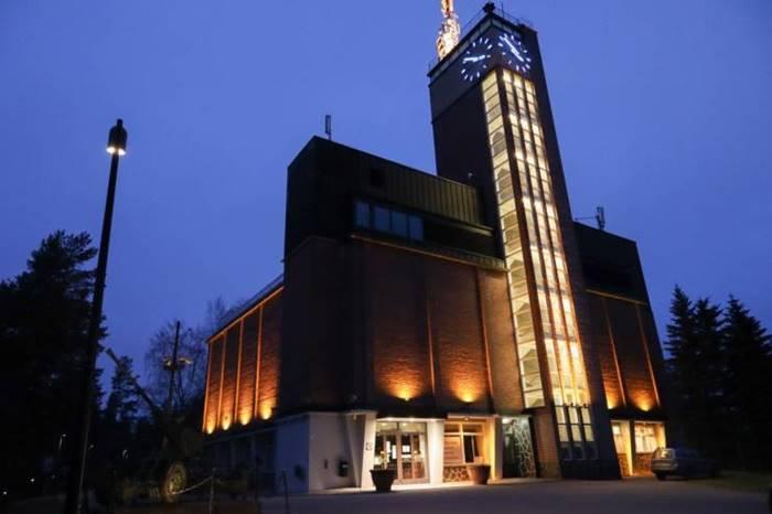 Water tower - watchtower - clock tower - nature museum - restaurant in Finland