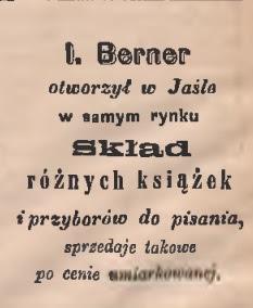 Jasło skład książek 1884