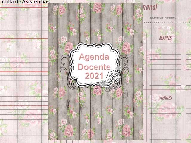 Agenda Docente 2021 - Vintaje - 177 páginas