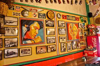 Mama Chit's Marikina, restaurant store interior, 1950's america, coke memorabilia