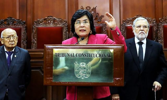Marianella Ledesma Narváez, presidenta del Tribunal Constitucional