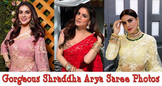Preeta aka Shraddha Arya pics in saree photos ✅