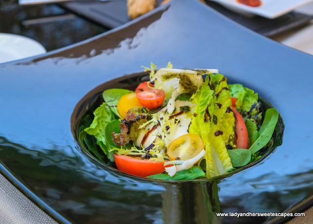 salad in Medley restaurant Pullman Hotel Dubai