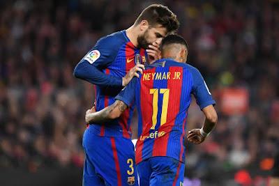 Pique bất ngờ tự quyết tương lai của Neymar